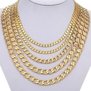 "🔱23"" Stainless🔱Steel Gold Plated Cuban Chain"